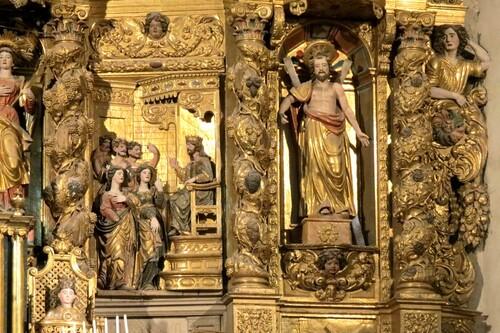 En Catalogne, le retable de l'église de Prats de Mollo