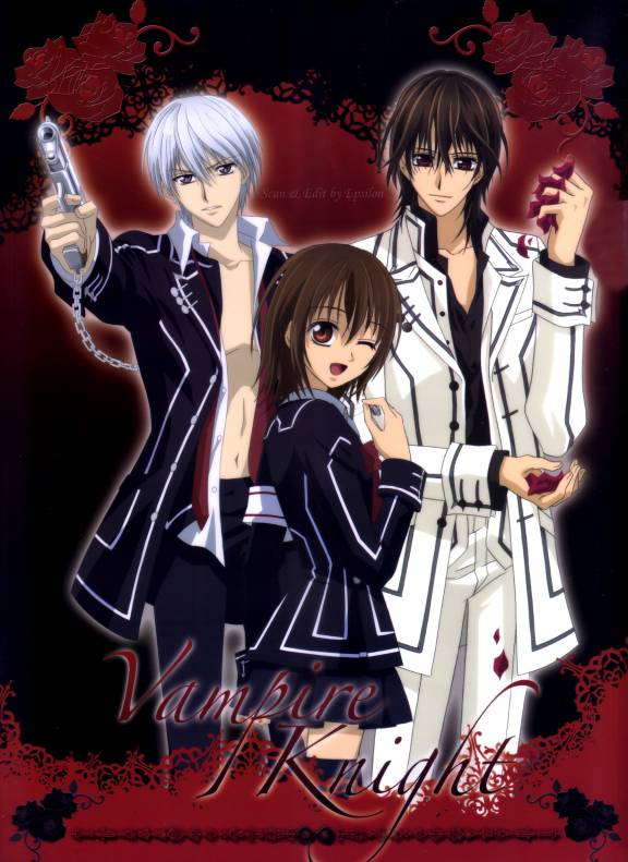 Tags: Anime, Matsuri Hino, Vampire Knight, Kiryuu Zero, Kuran Kaname, Yuki Cross, Rose Petals