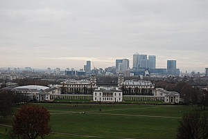 Greenwich -Queen's House et Old Naval College vus de l'Obs