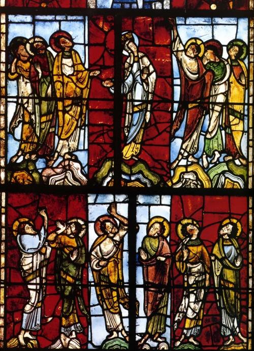 1140 1145 Vitrail de l'Ascension, cathédrale du Mans France
