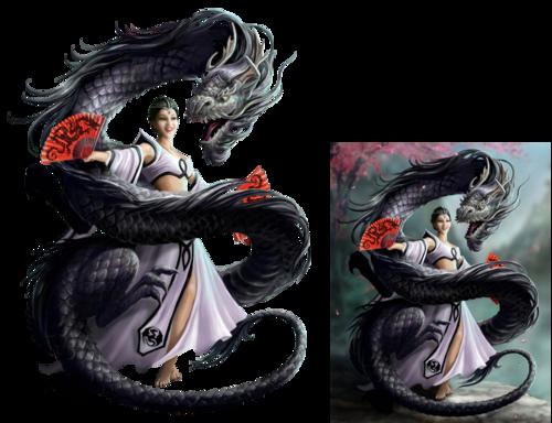 femme et dragon 3