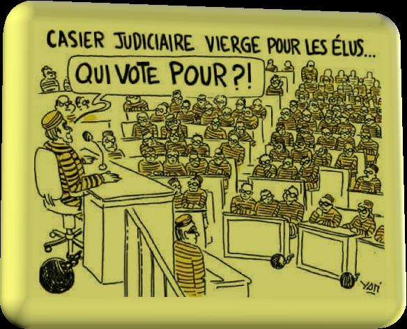 Casier Judiciaire Vierge Qui Vote Pour ? (Humour)