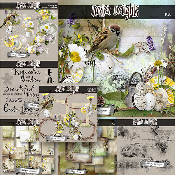 Easter Delight { Bundle & FWP PU } by Florju Designs