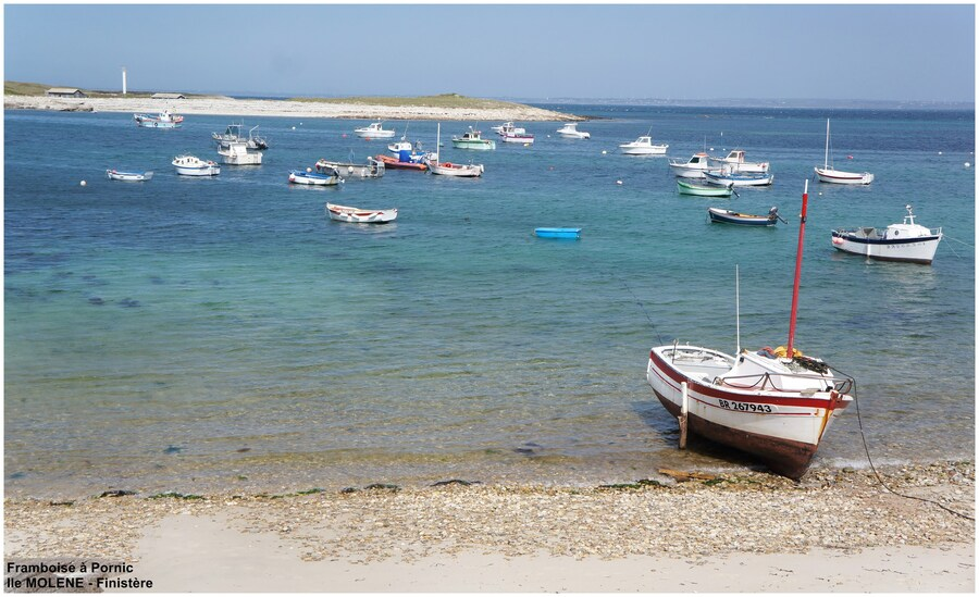 Port bien protégé de Molène