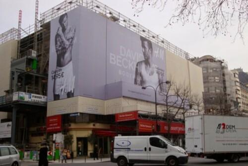 affiche géante H&M Beckham 5194