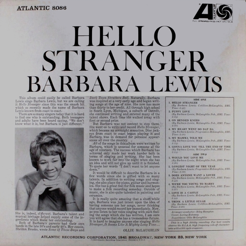 "Barbara Lewis : Album "" Hello Stranger "" Atlantic Records SD 8086 [ US ]"