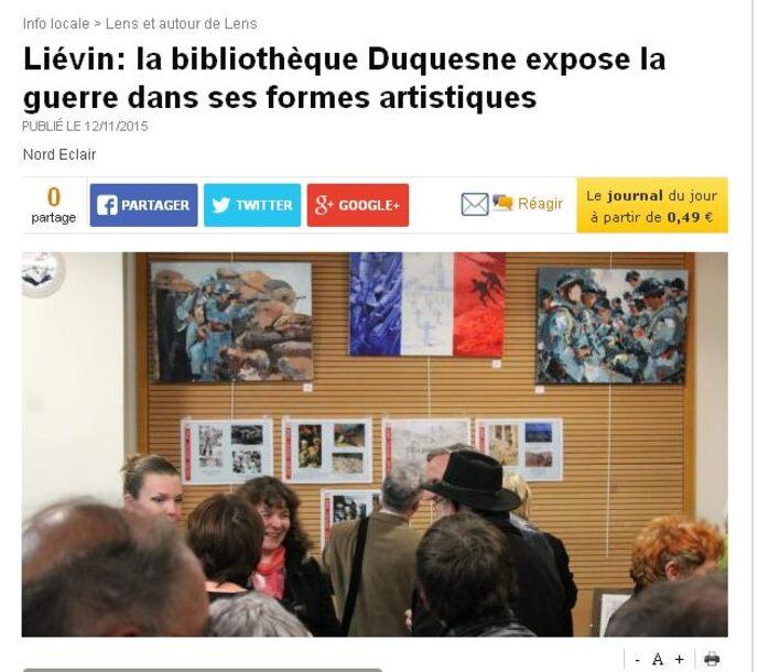 Des Armes et des Arts à Liévin-La presse en parle