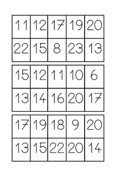 Les nombres de 10 à 20
