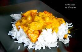 Curry végétarien au lait de coco