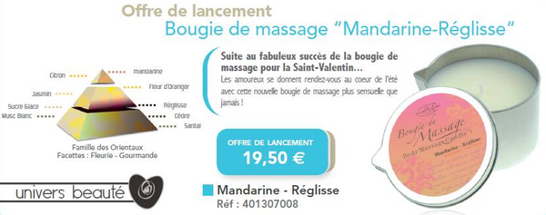 promo - club parfum - bougie de massage