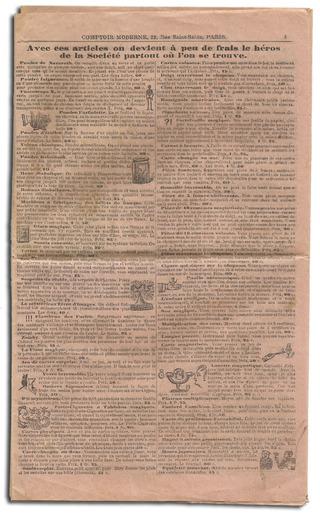 Catalogue des Inventions nouvelles et amusantes, utiles et pratique 1901/1902