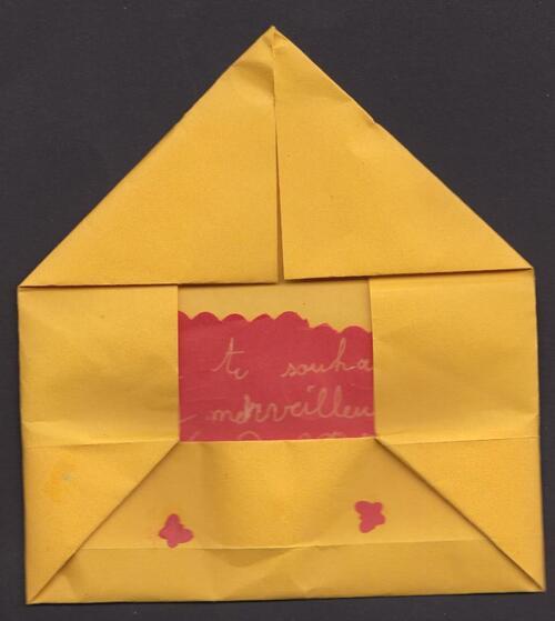 Enveloppe invitation origami