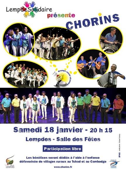 Prochain Concert des Chorins !
