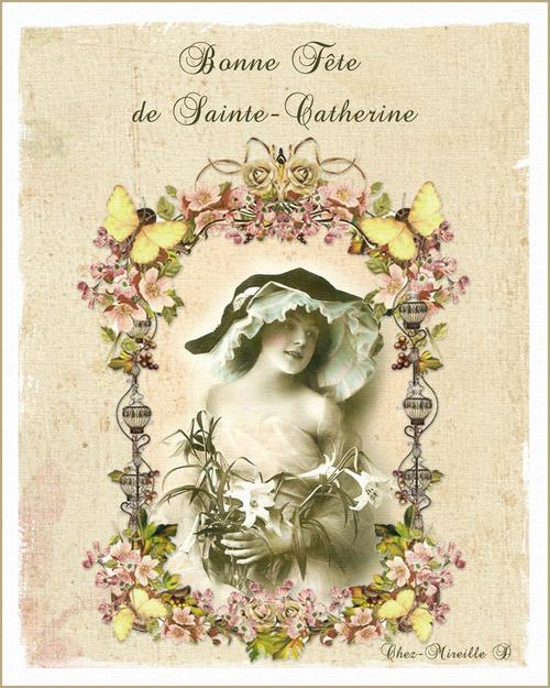 Carte de Sainte-Catherine Style Ancien