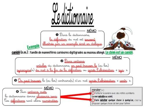 Lexique - L2 : Le dictionnaire