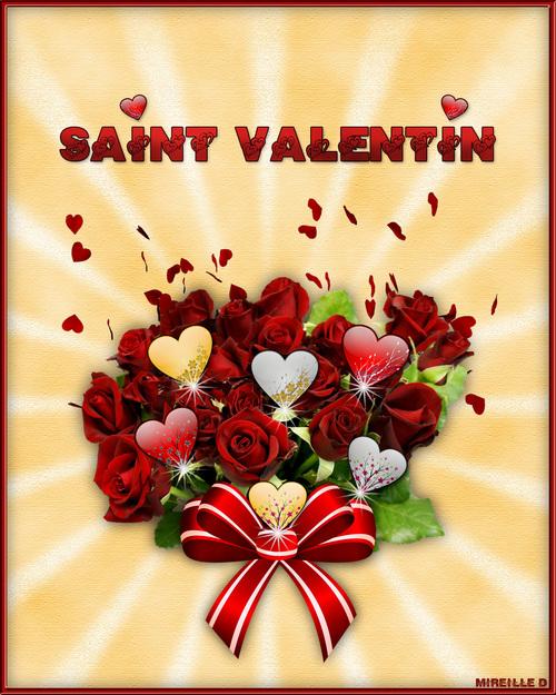 """Carte """"Bouquet de Roses"""" pour Saint-Valentin"""