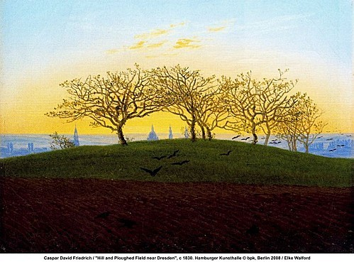 Hill and Ploughed Field near Dresden by Caspar David Friedr