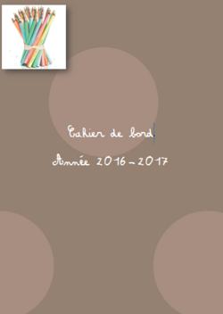 Cahier de bord de l'ASH 2016-2017