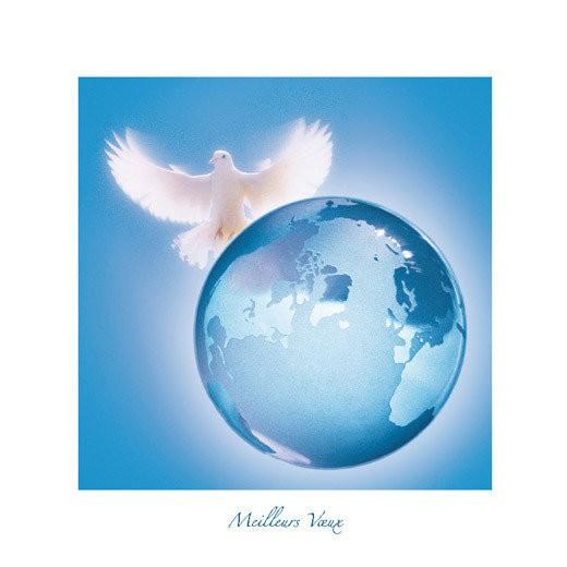 colombe de paix sur planete
