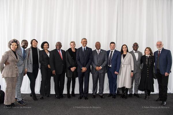 Charlène et Obama