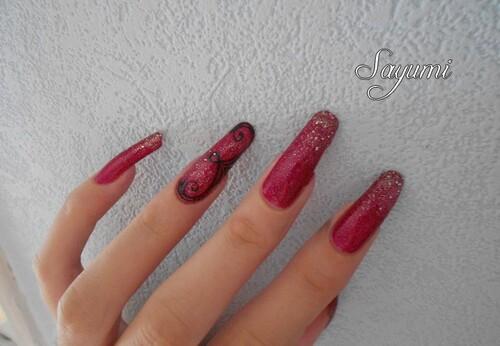 Nail Art Spirales Accent Nail
