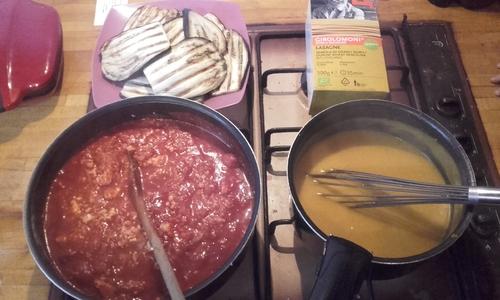 Lasagnes Aubergines/tofu/Potimarron {Vegan}