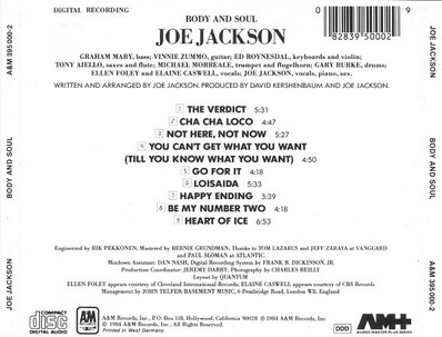 Cuivré: Joe Jackson - Body and Soul (1984)