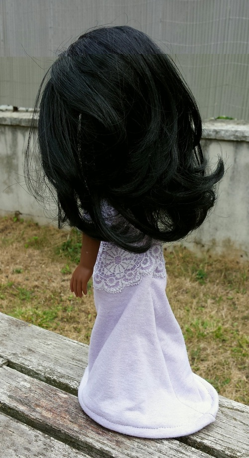 Couture - robe du soir poupée