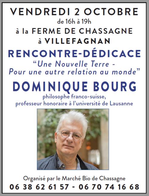 Marché d'automne : vend. 2 oct., avec Dominique Bourg