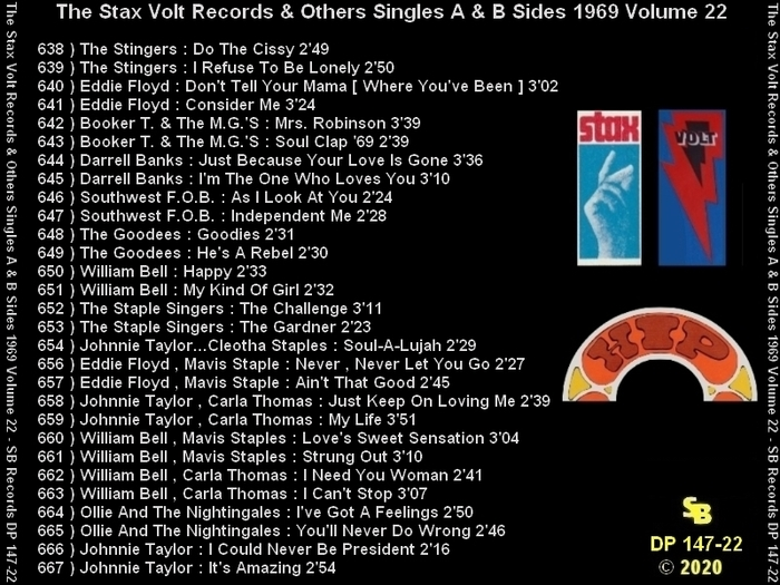 """ The Complete Stax-Volt Singles A & B Sides Vol. 22 Stax & Volt Records & Others "" SB Records DP 147-22 [ FR ]"