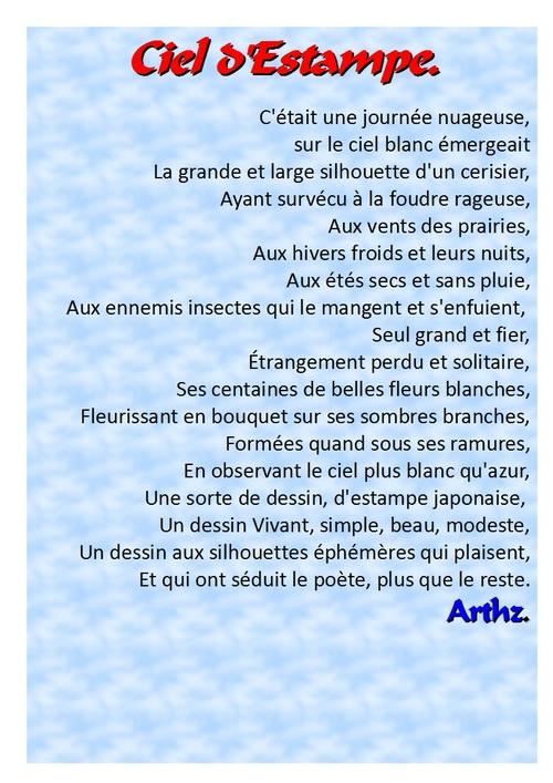 Poèmes : Ciel D'Estampe