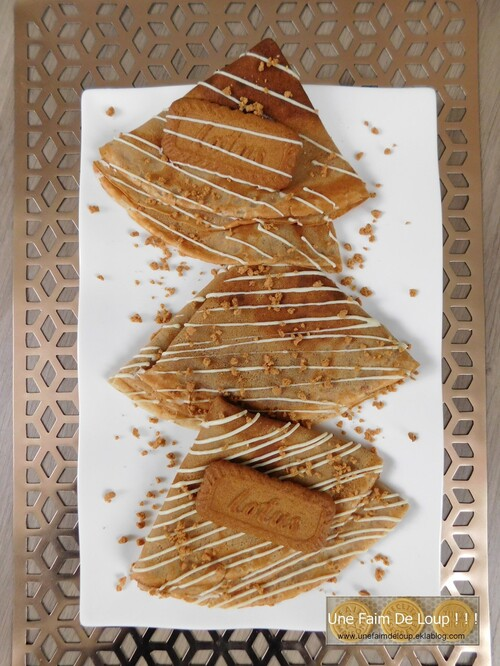 Crêpe au spéculoos & chocolat blanc