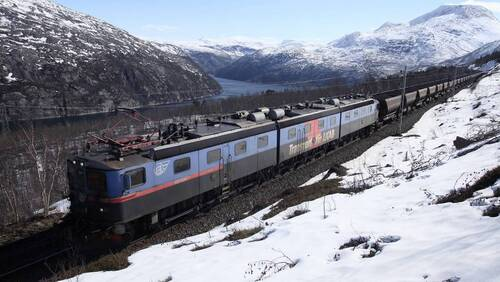 Kiruna, le train du Grand Nord
