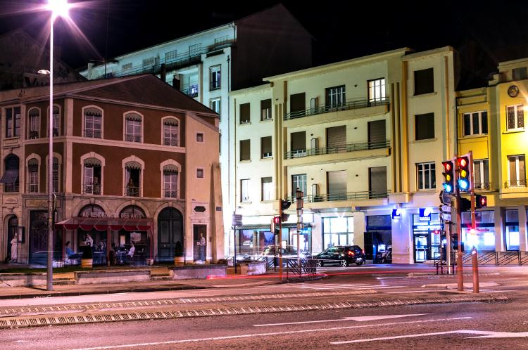 Roanne, le soir #11, avenue de Lyon, octobre 2013