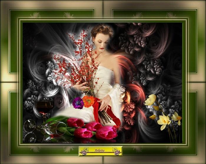 Dame fleurit