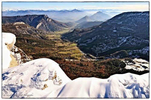 Montagne de l'Aups, sous le ciel hivernal du Dauphiné Sud!