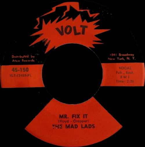 "The Mad Lads : Album "" In Action "" Volt Records S-414 [ US ]"