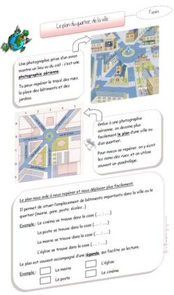 Le plan d'un quartier, d'une ville
