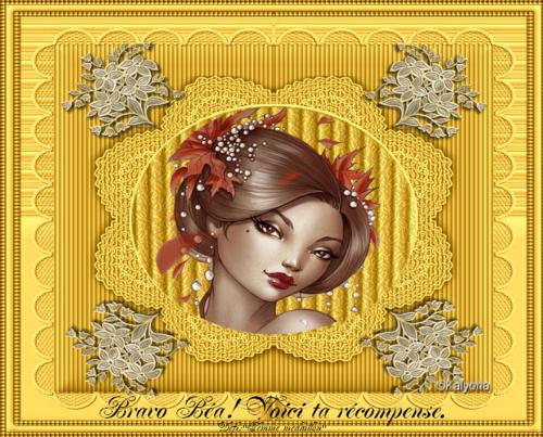 """Défi Kalyona N.1""""Femme Médaillon"""""""
