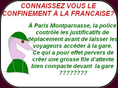Coronavirus :La France qui marche sur la tête art,19