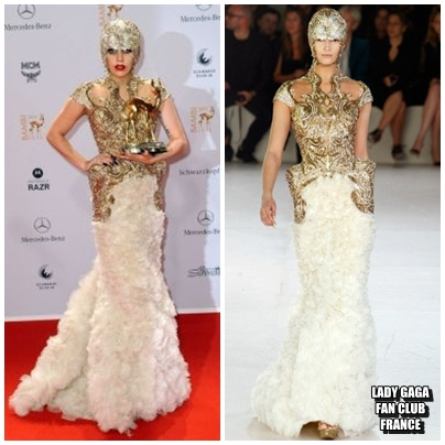 La robe de Gaga au Bambi Awards 2011
