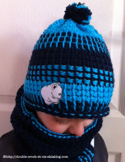 Bonnet et snood polaire