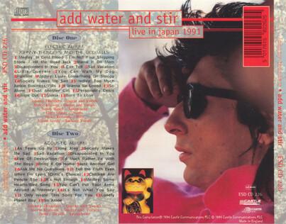 Une semaine du tonnerre - Le Retour! Jour 6 : Add Water and Stir - Live in Japan 1991