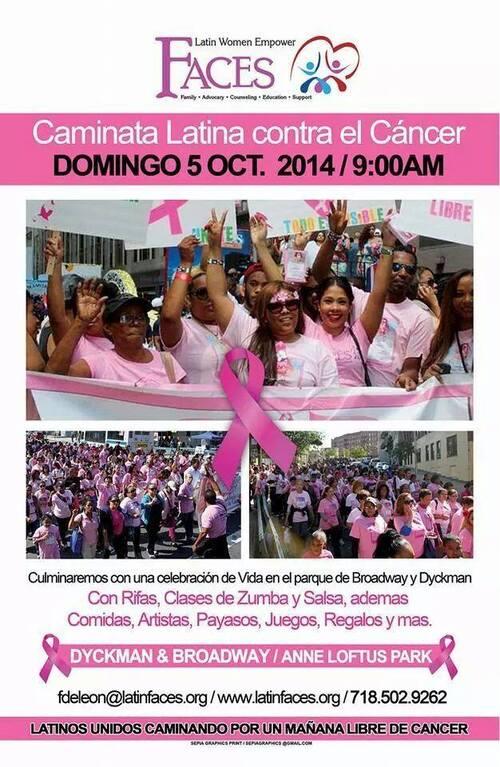 La marche contre le cancer du sein ( chez les latinos).............On en parle???????