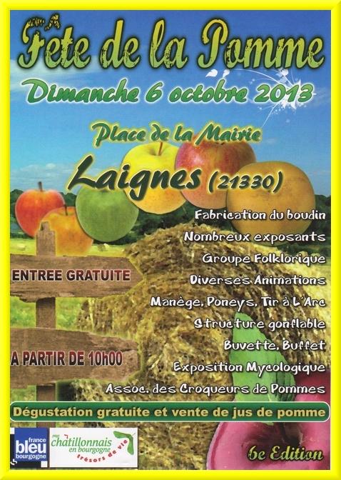 Demain ce sera  la fête de la pomme à Laignes !