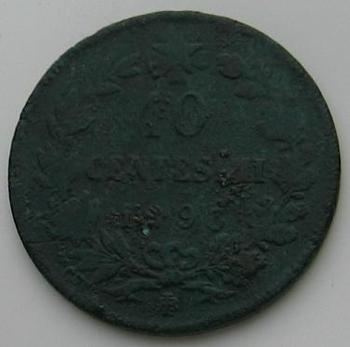 10 Centesimi  1893    Imberto I    revers