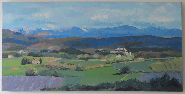 Paysage de la Drôme - Allex et le Vercors