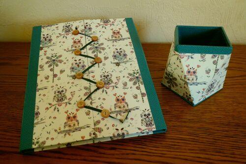 pot à crayons porte cahier à secrets