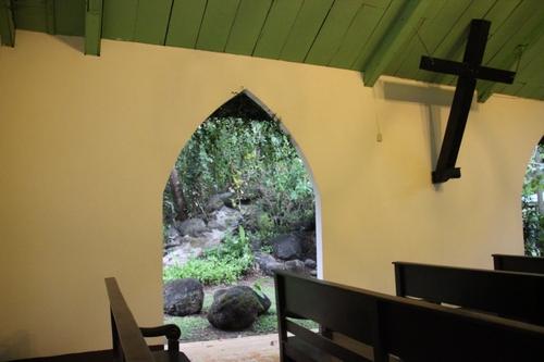 La petite église de Santa Lucia, près de l'hôtel Villa Lapas (Costa Rica)