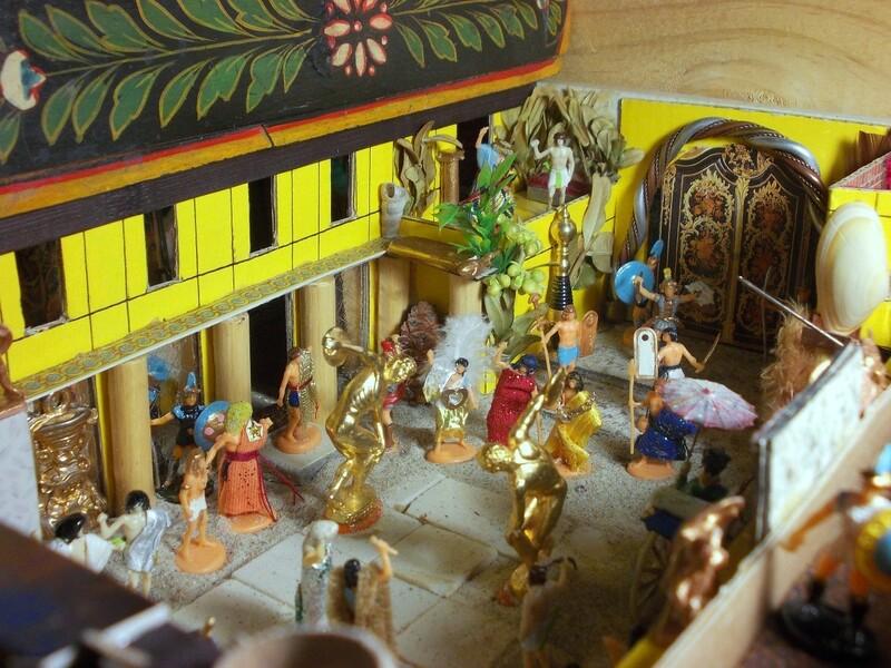 Interlude, avant la sortie de la septième aventure de Gason et Les sablonautes : les décors du royaume d'Orchide